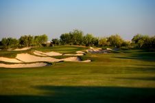 Free Golf Course In The Arizona Desert Stock Photos - 6450423