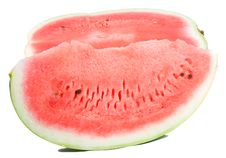 Free Slice And Half Of Watermelon Royalty Free Stock Image - 6450566