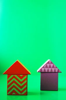 Free Wooden Blocks Houses Royalty Free Stock Photo - 6450645