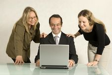 Free People Looking At Laptop Royalty Free Stock Photo - 6450825