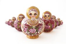 Free Russian Dolls In A V-shape Stock Photos - 6450973