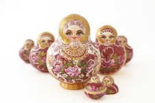 Free Russian Dolls In A V-shape Stock Image - 6450981