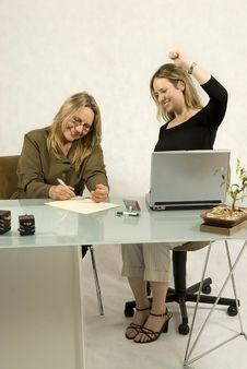 Free Women At Desk Stock Photos - 6451043