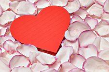 Free Heart Shaped Notepad Royalty Free Stock Image - 6451106