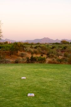 Free Golf Course In The Arizona Desert Royalty Free Stock Photos - 6451738