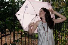 Free Woman With Umbrella Royalty Free Stock Photo - 6451895