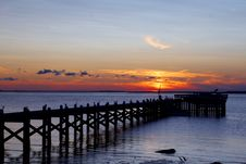 Sunset Pier Stock Images