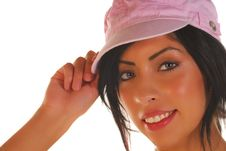 Free Attractive Latino Woman Tipping Her Hat Royalty Free Stock Photos - 6452258