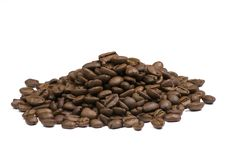 Free Coffee Beans On White Background Royalty Free Stock Photography - 6452347