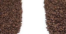 Free Coffee Beans On White Background Stock Images - 6452354