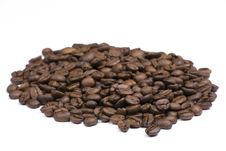 Free Coffee Beans On White Background Royalty Free Stock Photography - 6452357