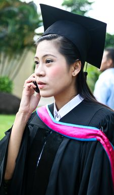 Asian University Graduate Stock Photo