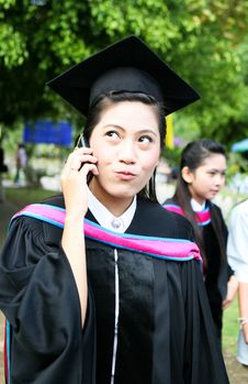 Free Asian University Graduate Stock Image - 6452391