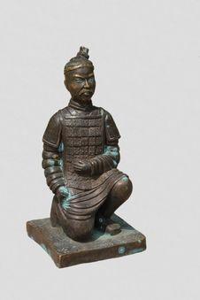 Bronze Ancient Warrior Royalty Free Stock Photos