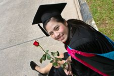 Free Asian University Graduate Royalty Free Stock Photo - 6452535