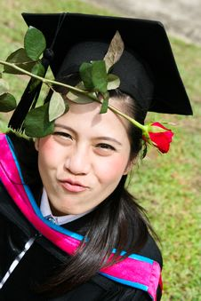 Asian University Graduate Royalty Free Stock Image