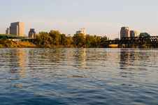 Sacramento At Sunset Royalty Free Stock Photo