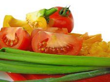Free Tomato, Paprika And Green Onion Stock Photos - 6453173