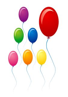 Free Multu Colored Balloons Royalty Free Stock Images - 6453249