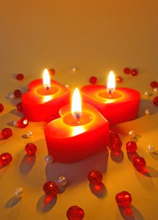 Free Three Burning Candles Stock Images - 6453254