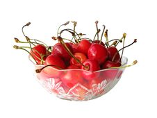 Free Cherries In Glass Bowl Royalty Free Stock Photos - 6453308