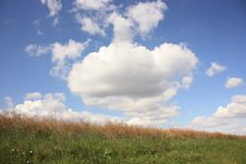 Free Sky Over The Field Royalty Free Stock Images - 6453679