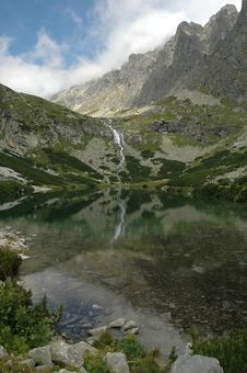 Free Clear Mountain Lake And Peaks Stock Image - 6453861