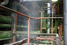 Free Pipes, Tubes, Machinery And Steam Turbine Royalty Free Stock Images - 6453949