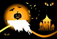 Free Halloween Night Background Stock Photos - 6454473