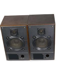 Two Retro Speakers Stock Photography