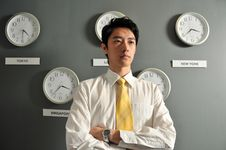 Free Business Office With Clocks 6 Royalty Free Stock Photo - 6454895