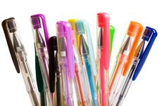Free Color Ballpoint Pens Stock Photography - 6454992