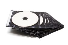 Free Disk Cd In Boxes Stock Image - 6455001