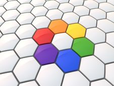 Free Abstract Hexagonal Color Wheel Stock Photo - 6455060