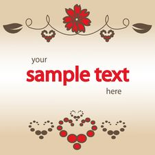 Free Blank With Red Flower Stock Image - 6455131
