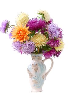 Free Bunch Of Colorful Asters Royalty Free Stock Photo - 6455505