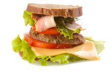 Free Big Hamburger Royalty Free Stock Images - 6455539