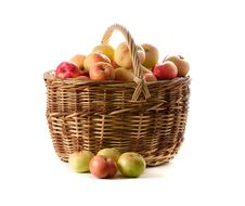 Free Apples In Woven Basket Royalty Free Stock Photos - 6455578