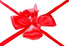 Free Red Satin Bow Royalty Free Stock Images - 6455599