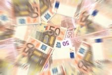 Free 50 Euro Notes Texture Radial Blur Royalty Free Stock Image - 6455746