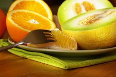 Free Oranges And Melon Stock Photo - 6455790