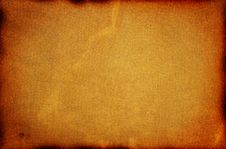 Old Burned Cardboard. Stock Photography