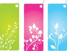 Free Set Of Badges With Floral Royalty Free Stock Image - 6455846