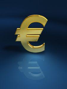 Free Golden Euro Sign Royalty Free Stock Photo - 6456555