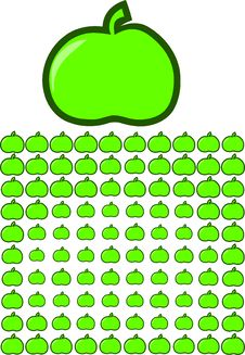 Free Abstract Green Apples Stock Photo - 6456740