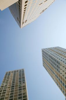 Free Modern Skyscrapers At Wide Angle Stock Photos - 6457343