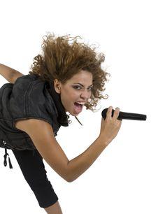 Free Lady Singing Madely Stock Photo - 6457360