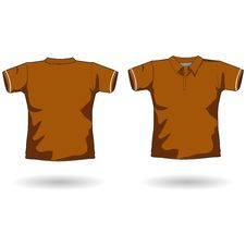 Free Brown Polo Shirt Template Royalty Free Stock Image - 6457406