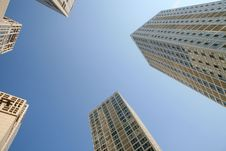 Free Modern Skyscrapers At Wide Angle Royalty Free Stock Photo - 6457415