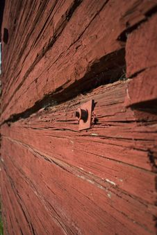 Free A Red Timberwall Stock Photo - 6457610